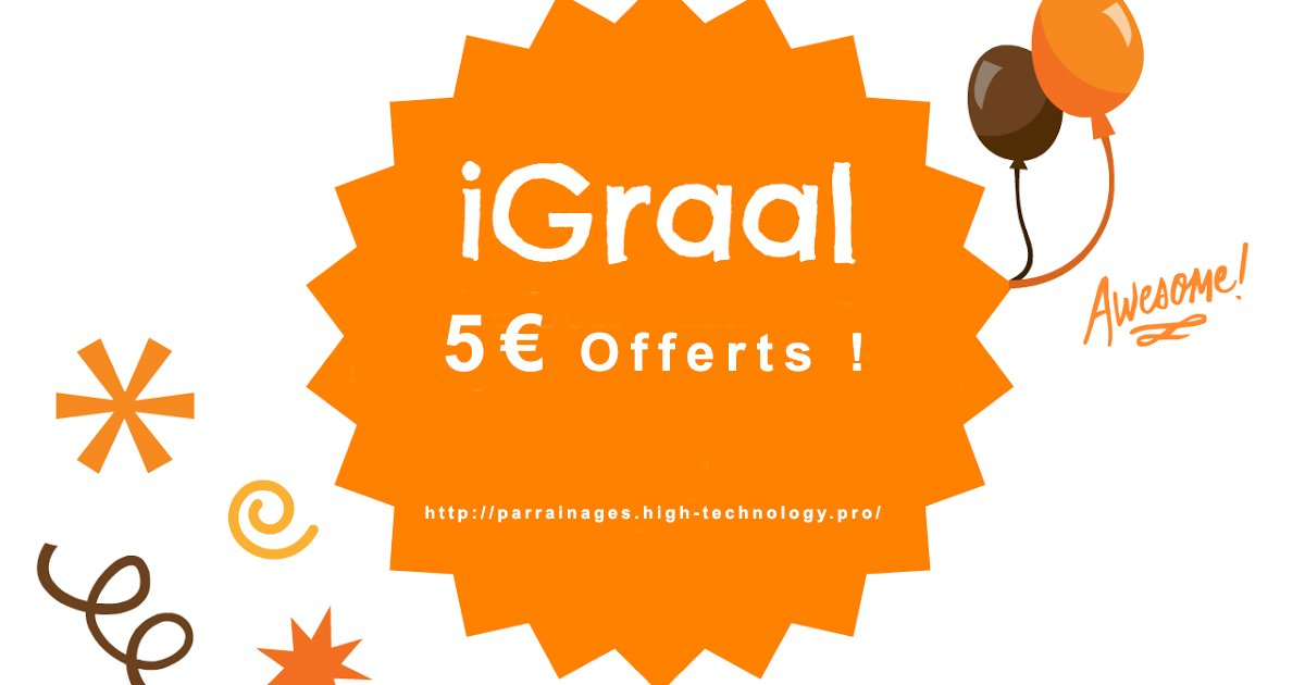 #iGraal 5€ | I love #shopping !  http:// bit.ly/2mWuZQH  &nbsp;    #pognon #argent #cash #fric #economie #budget #compte #magasins #reduction #promo<br>http://pic.twitter.com/hREfTZBtyU
