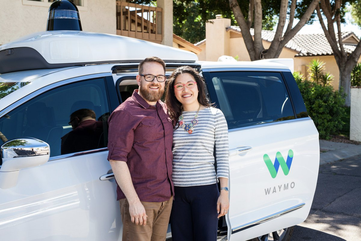 Amy & Paul love to use Waymo to go on new adventures. Meet them and other early riders: waymo.com/apply