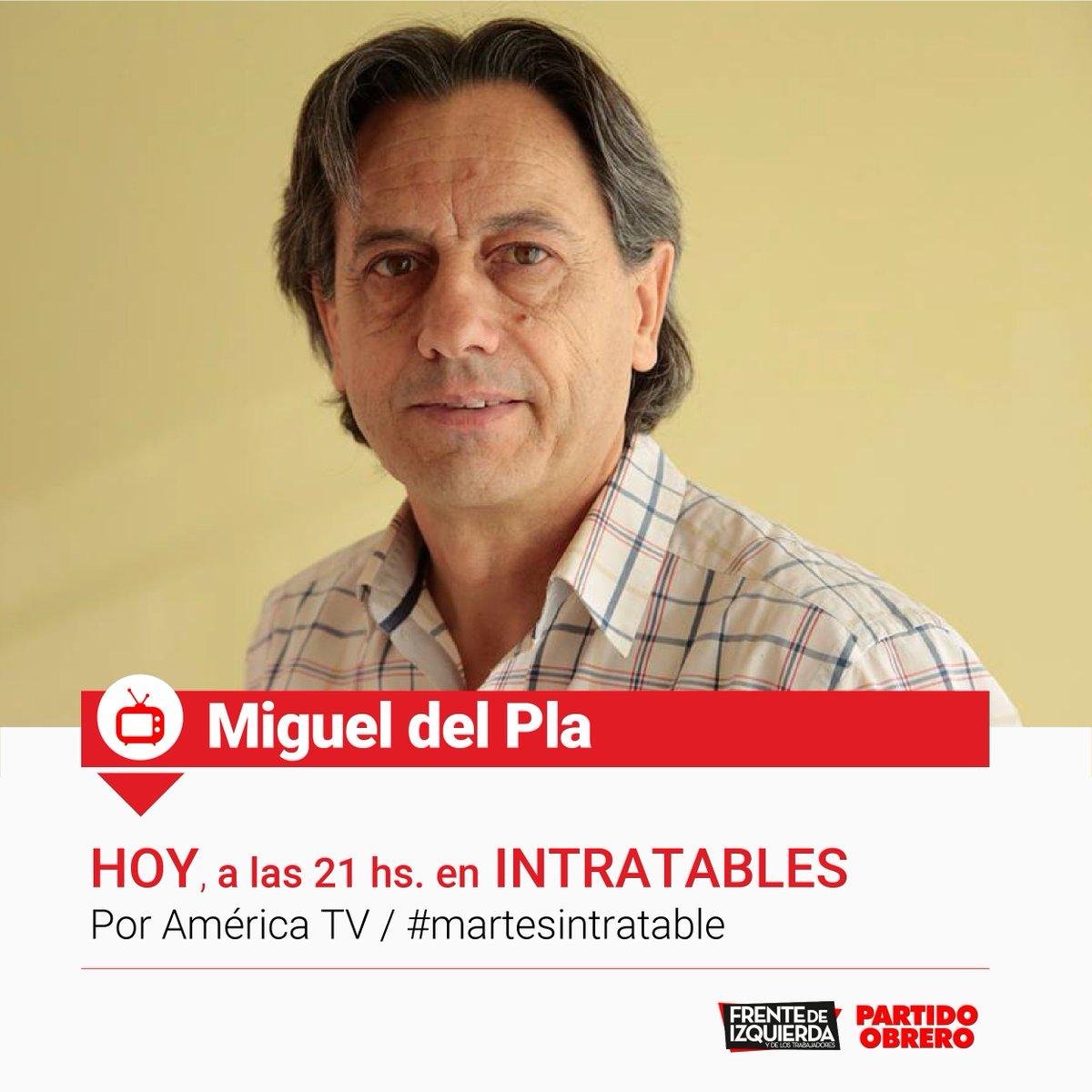Ahora, a las 21 @MigueldelPla docente de Santa Cruz en @Intratablestv...