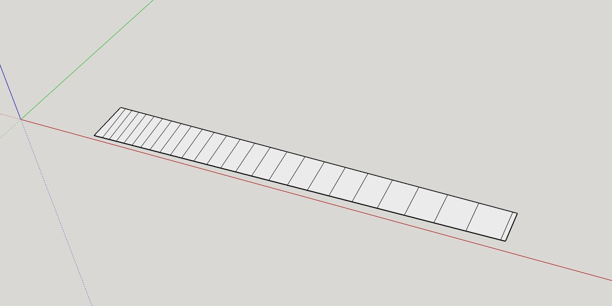 Multi-scale fretboard design is flattened, exported, and laser-cutter ready! #luthier #3Dmodelling using #SketchUp<br>http://pic.twitter.com/46oCL7lb6C