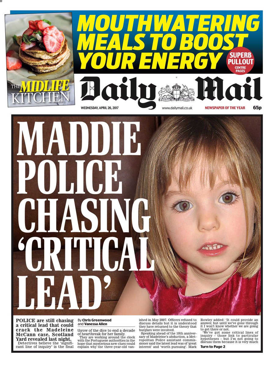 GRANGE UPDATE - AC Mark Rowley reflects on the tenth anniversary of the disappearance of Madeleine McCann plus  Martin Brunt on Sky - Page 2 C-SdVfnXoAAb1PE