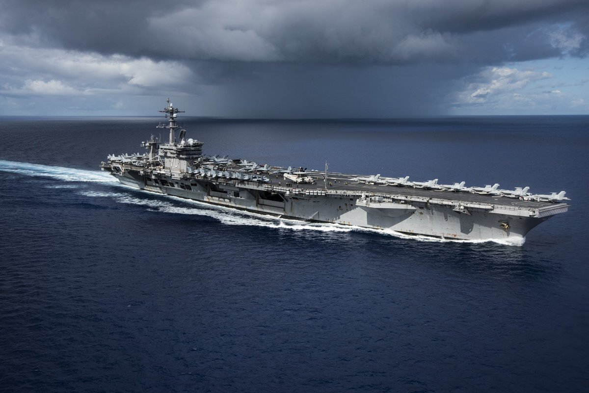 Carl Vinson #CarrierStrikeGroup holds bilateral at-sea exercises with JMSDF allies in the Philippine Sea on Sunday.