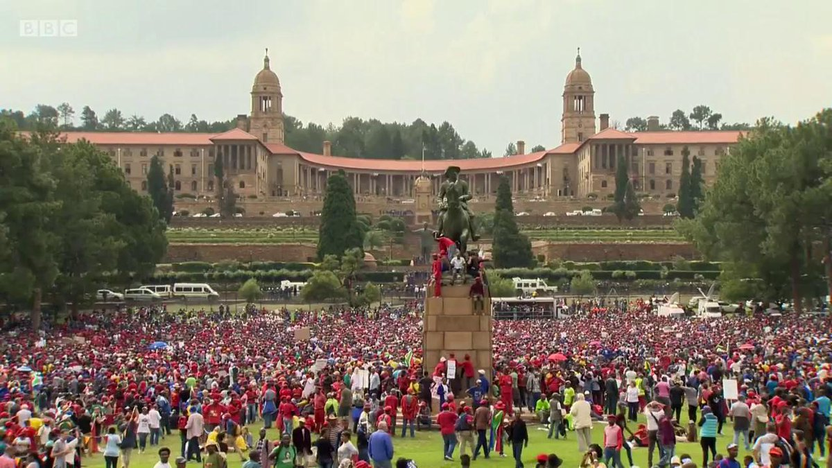 What is fuelling mass protests against South African President Jacob Z...