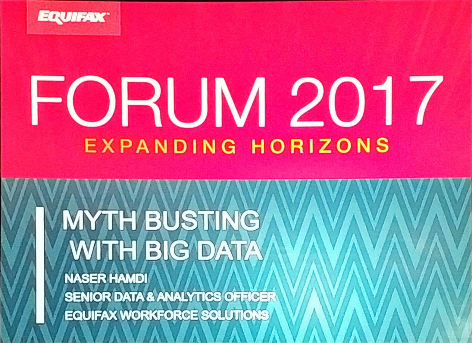Next up -  Myth Busting with #BigData with  @nhamdi #EFXForum17 https://t.co/aojysgJOh8