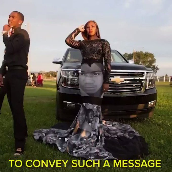 This teen's prom dress was covered with images of victims of police brutality https://t.co/QJBhVCM9ZI