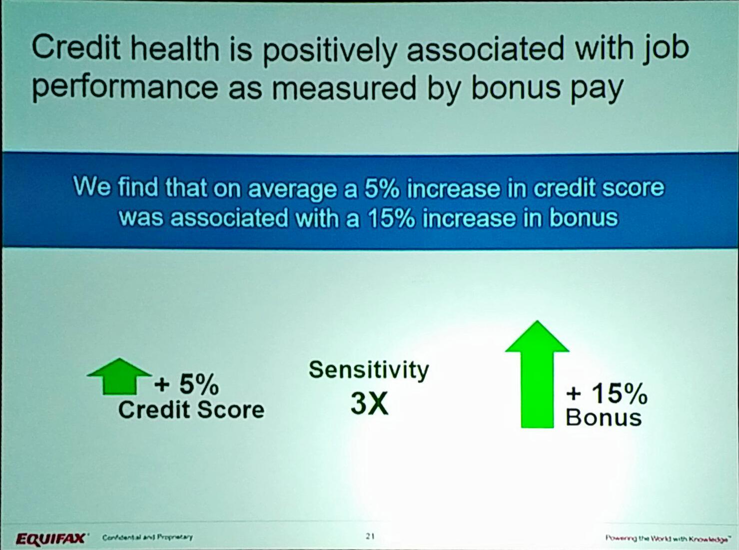 .@nhamdi - 5% increase jn credit score associate to a 15% increase in bonus. #EFXForum17 https://t.co/cgjY1Ufz7d