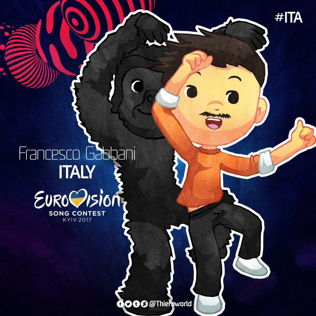 From #Italy: @frankgabbani with &quot;Occidentali&#39;s Karma&quot; #Eurovision  #ITA <br>http://pic.twitter.com/bDeR2EvAKw
