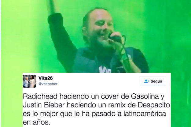 This mashup of Radiohead singing 'Gasolina' is everything you needed https://t.co/8jUt4KZoYD