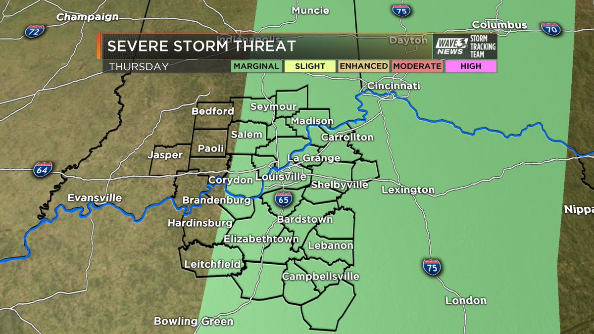 Watching early Thursday for a few strong storms. Threat exits east by...