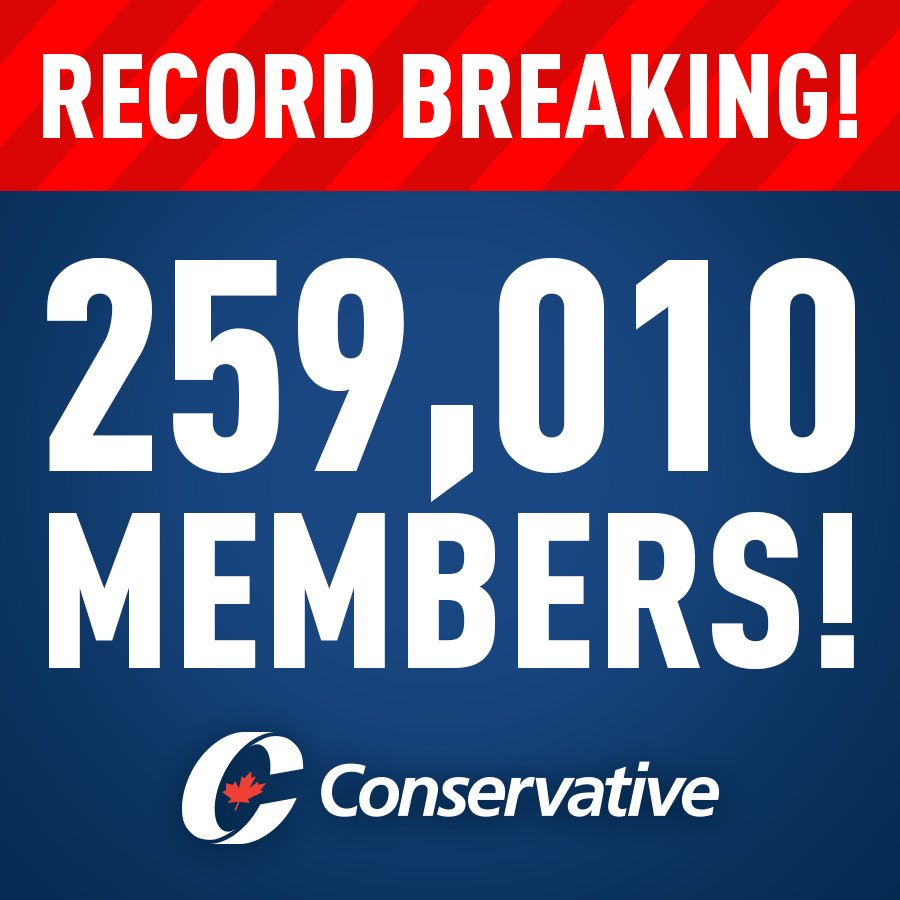 🚨 🚨 🚨  Over 150,000 people have joined our party - in 2017 alone. #cdn...