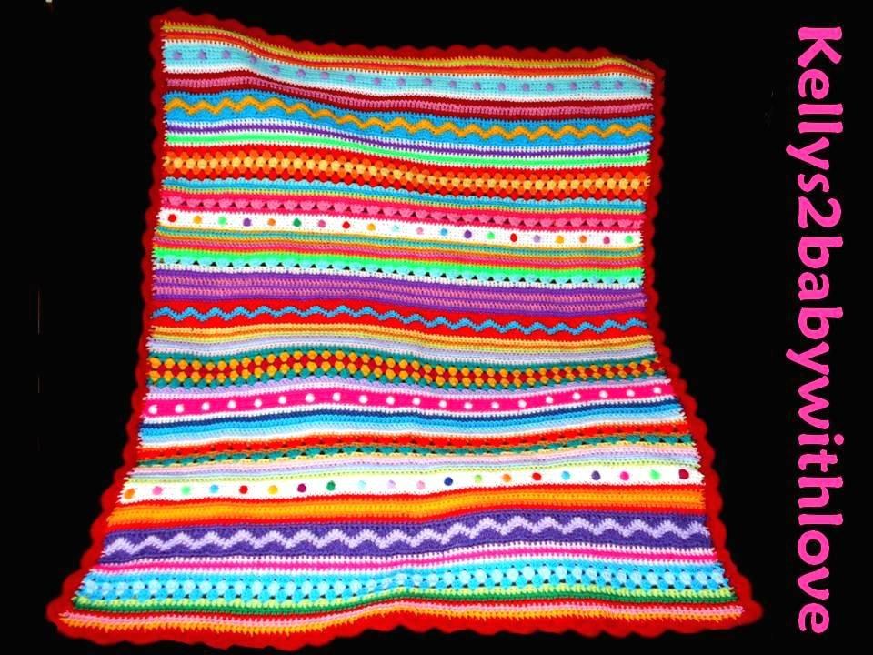 Handmade Mix and Match Multi-Coloured Striped Crochet Baby Blanket - Nurs…  http:// etsy.me/2kJbMRM  &nbsp;   #Blanket #Crochet<br>http://pic.twitter.com/ei8ZK1G4CJ