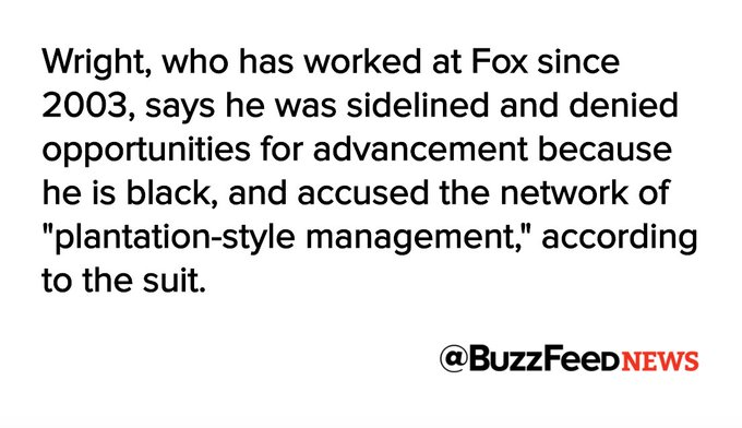 Fox News' Kelly Wright and 12 other former and current employees are suing the network for racial discrimination  https://t.co/trZTeEMEqm