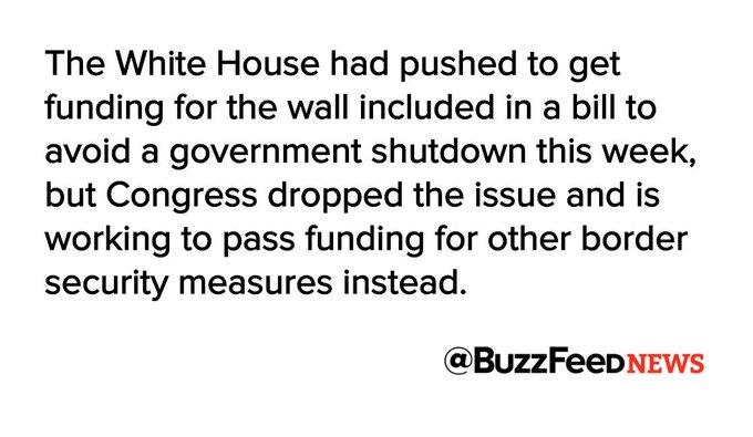 Congress denies Trump's $3 billion request to start building his border wall — for now https://t.co/VUGBNbL3Eu