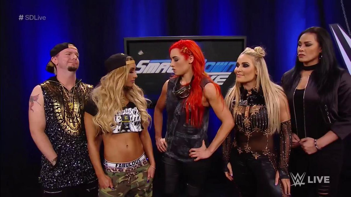 'Either you're WITH US or AGAINST US... choose wisely.' Where does @BeckyLynchWWE's allegiance lie? #SDLive