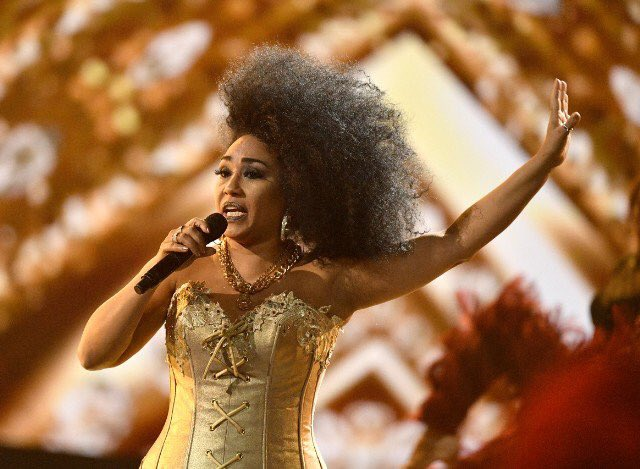 'Celia' actress pays homage to the late icon at @billboardlatin openin...