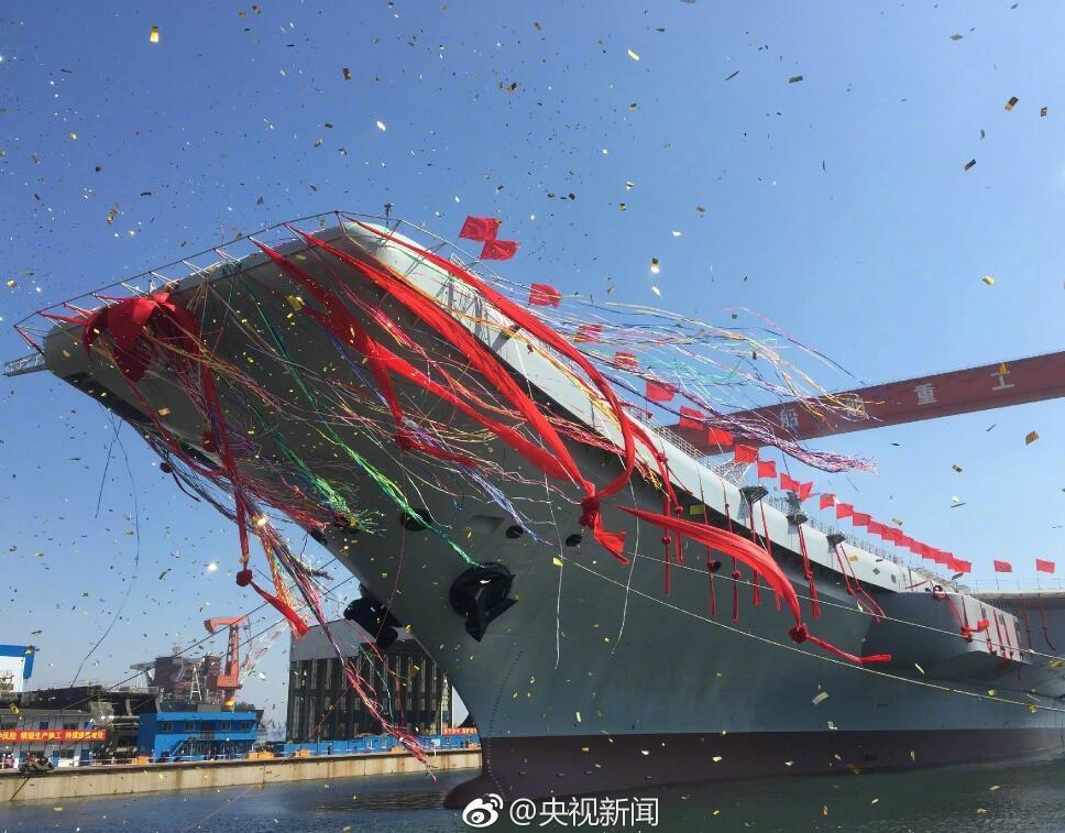 Спуск на воду 2-го китайского авианосца