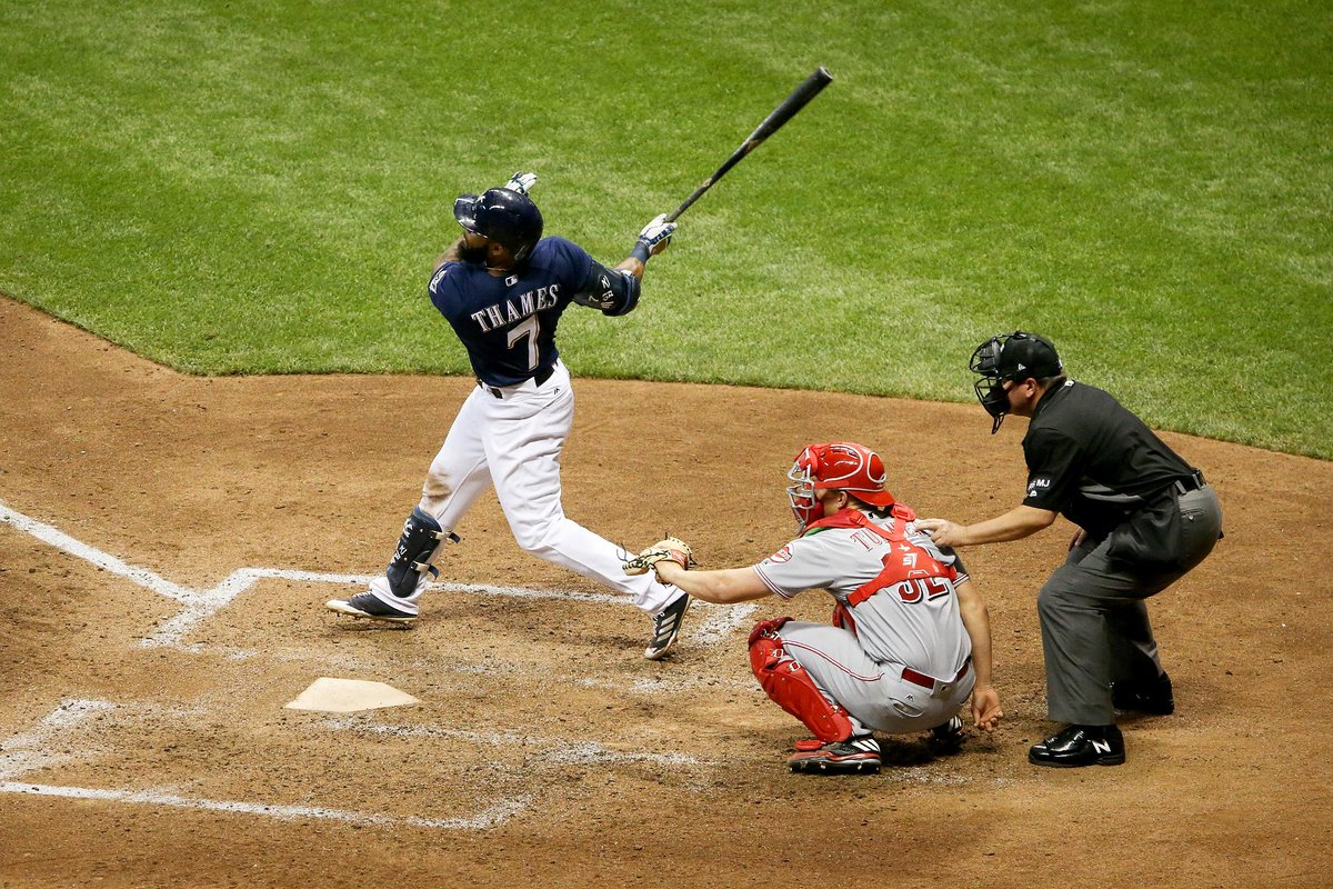 Another one!  Eric Thames belts his 11th home run of the season settin...