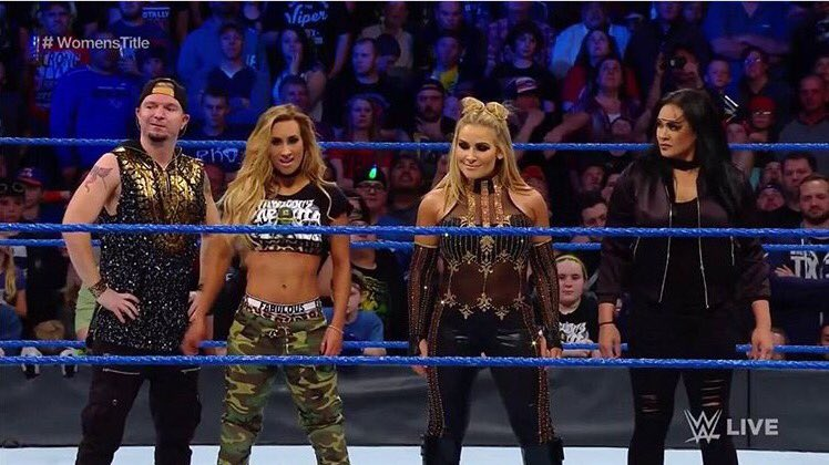 Ended #SDLive standing tall with these ladies @CarmellaWWE @NatbyNature @TaminaSnuka