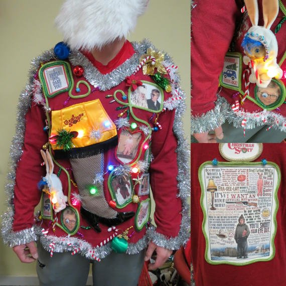 Festive Frock Tacky Ugly #Christmas #Sweater Hodge Podge by @ChristmasSweat3. #xmas #party #festivus of  http:// etsy.me/2pn1Foi  &nbsp;   via @Etsy<br>http://pic.twitter.com/zGe6HM61dr