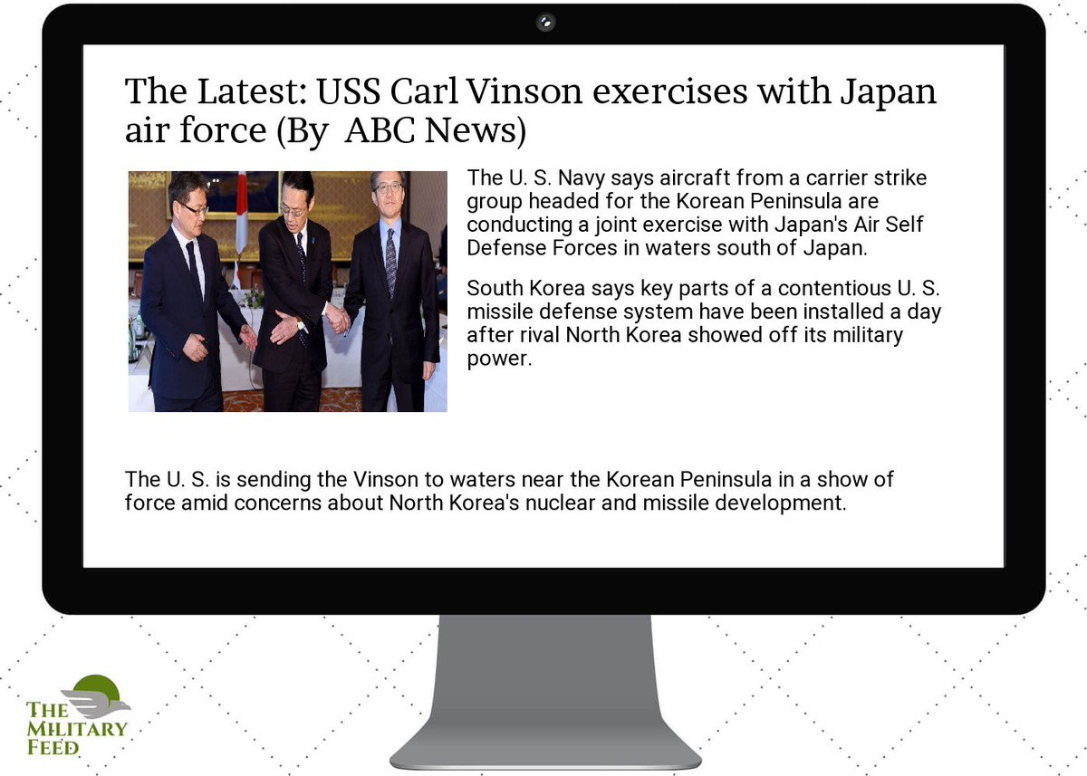 #Defense #News App:  http:// goo.gl/Ggu1EN  &nbsp;   ; the latest:  #uss  #carl  #vinson  #exercises with  #japan  #air  #force<br>http://pic.twitter.com/enRfktCIW7