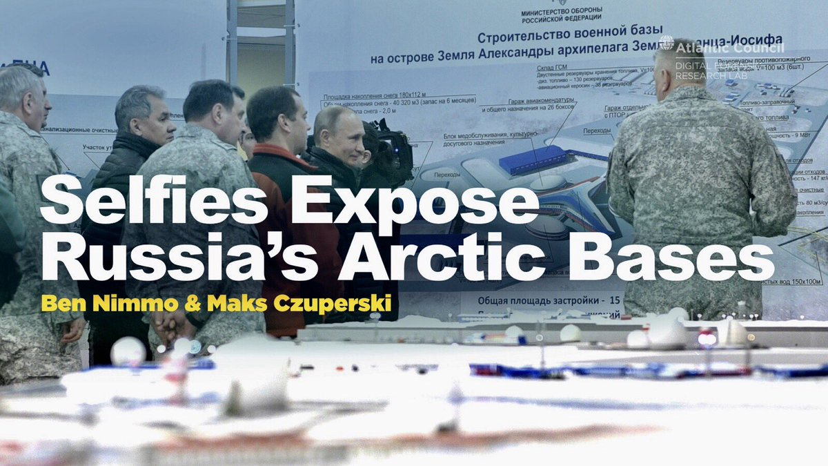 #Putin&#39;s ambitions in the high North—How selfies expose #Russia&#39;s Artic bases. @Benimmo &amp; I via @DFRLab  https:// medium.com/dfrlab/selfies -expose-russias-arctic-bases-b43792bfd256?source=linkShare-105bc7078bae-1493192868 &nbsp; … <br>http://pic.twitter.com/5tE16PEP1w
