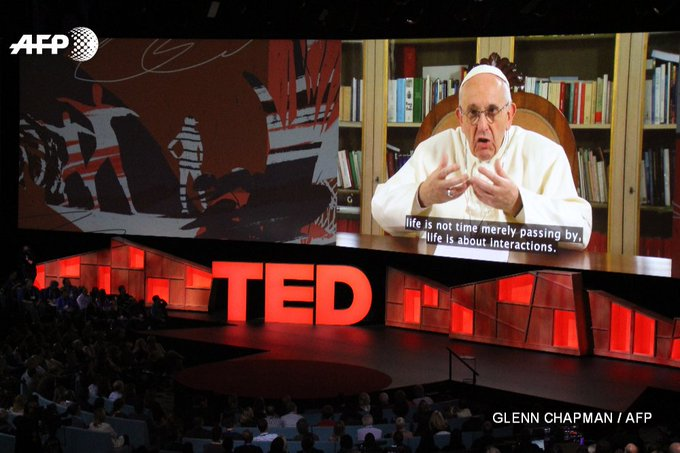 Pope Francis urges connection not division in surprise TED talk via video  https://t.co/aq2EI9asex