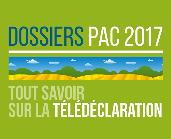 #TelePac La campagne PAC2017 a démarré. On vous aide à remplir votre télédéclaration, vous avez jusqu'au 15 mai 🔗 https://t.co/Bbf37gbIMf