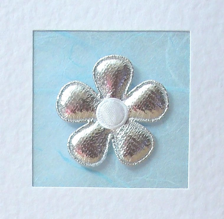 Anniversary Card, for her, wife, parents, silver flower with coloured satin centre, modern..  https:// seethis.co/xYeZW/  &nbsp;   #cards #craftbuzz<br>http://pic.twitter.com/Fiq2CqKWsU