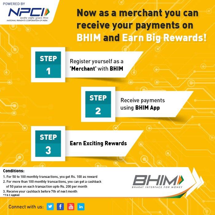 Win rewards by receiving your payments using the #BHIMApp! #UpdateNow #MerchantOnboard #Rewards #bhim <br>http://pic.twitter.com/iqbLYCB1FZ