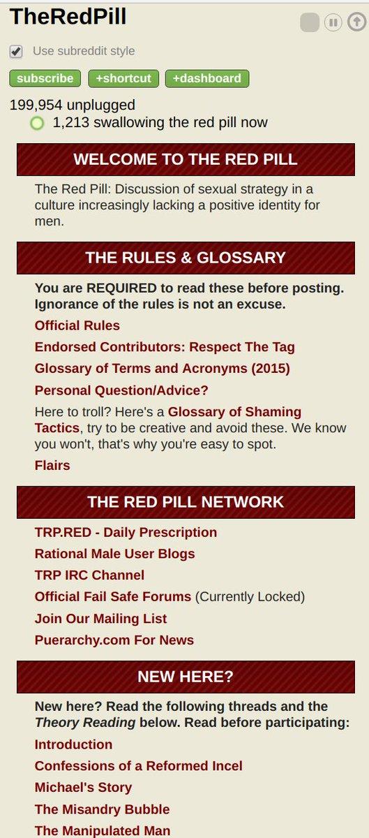 Red pill reddit