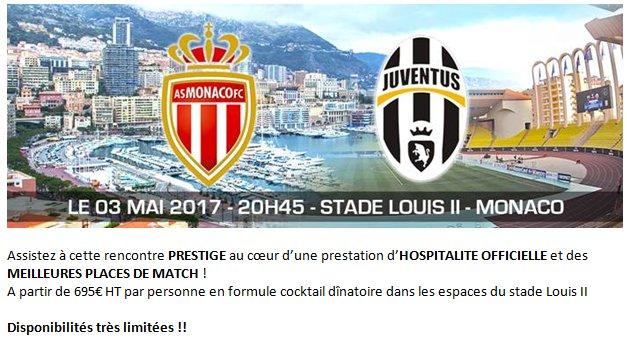Membre de la Chambre @AgenceEventeam a une super offre pour le match Monaco vs Juventus, places limitées ! #championsleague #footballpic.twitter.com/DcXSOCXnPx