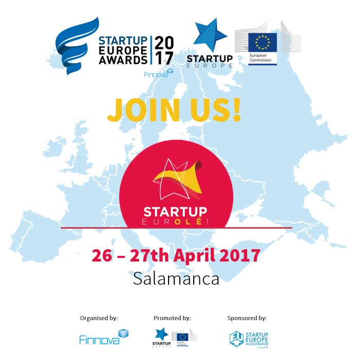 Meet us at @StartupOle and know more about #TheEurovision4Startups 26-27 April #Salamanca @StartUpEU @Finnovaregio<br>http://pic.twitter.com/gOsOTUAZqC
