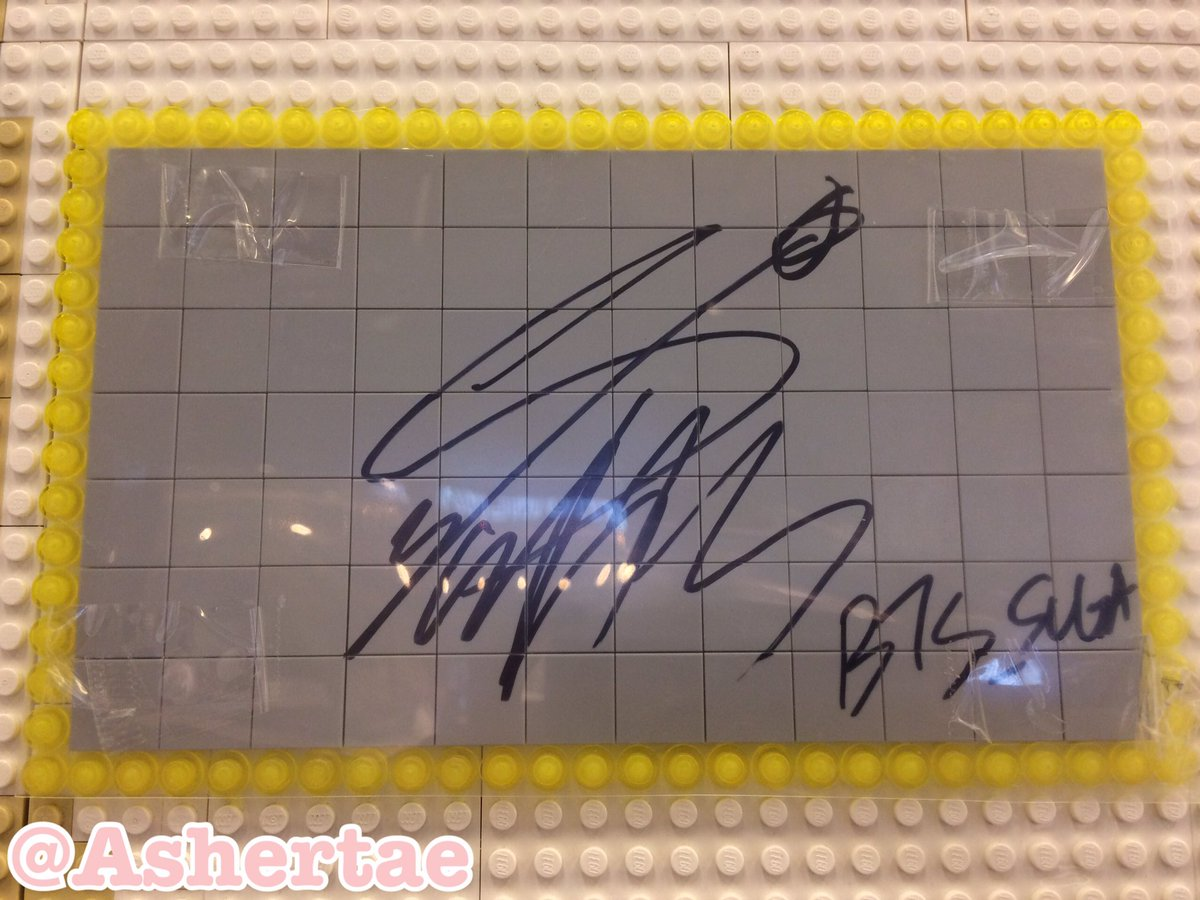 "healmyself on twitter: ""bts sign 💜 at brick cafe -jin -suga -j"