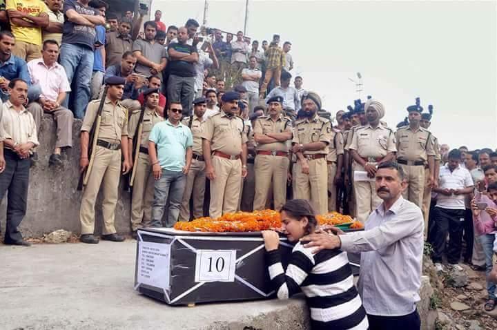 Daughter of CRPF martyr Sanjay Kumar at his native village Chechain Nagri, Dharamsala