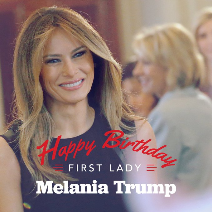 Happy Birthday to our strong and graceful @FLOTUS!