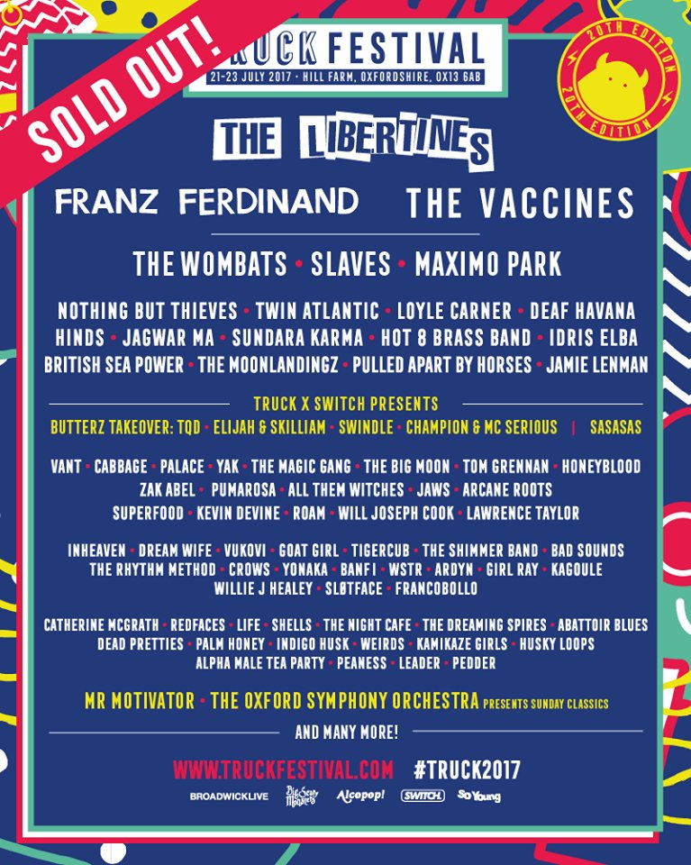Win a pair of weekend camping tickets to the sold out Truck Festival 2017 https://t.co/R2iQVC76db .@TruckFestival https://t.co/5XCJQiKRRr