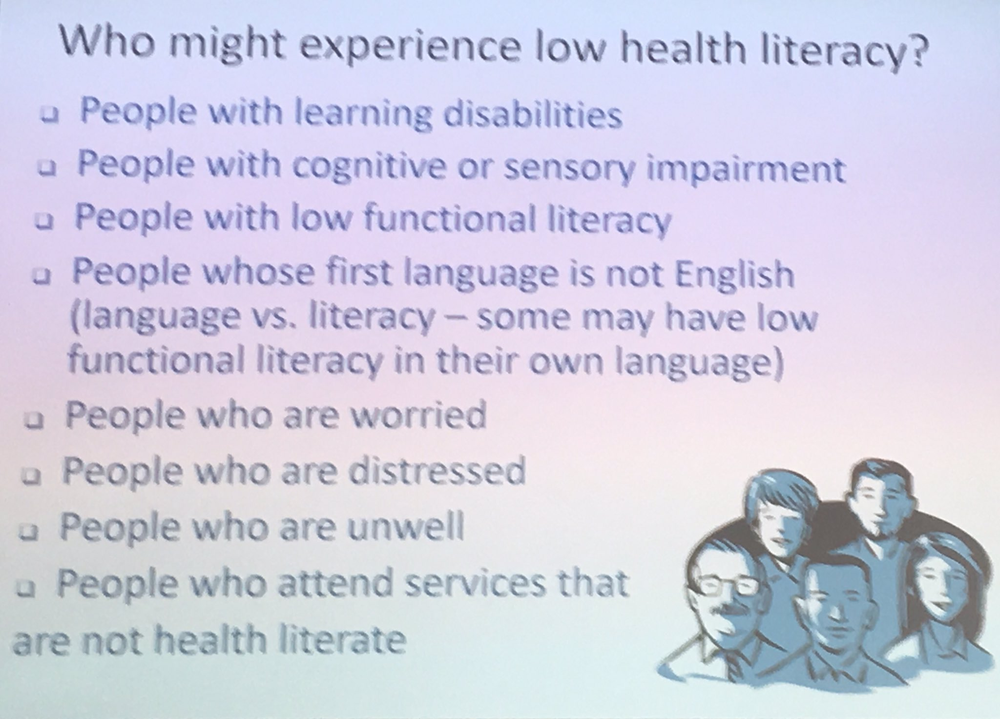 Who is not on this list at some point especially when ill #healthlitdiscovery #healthliteracy https://t.co/vVhsjdAJPu