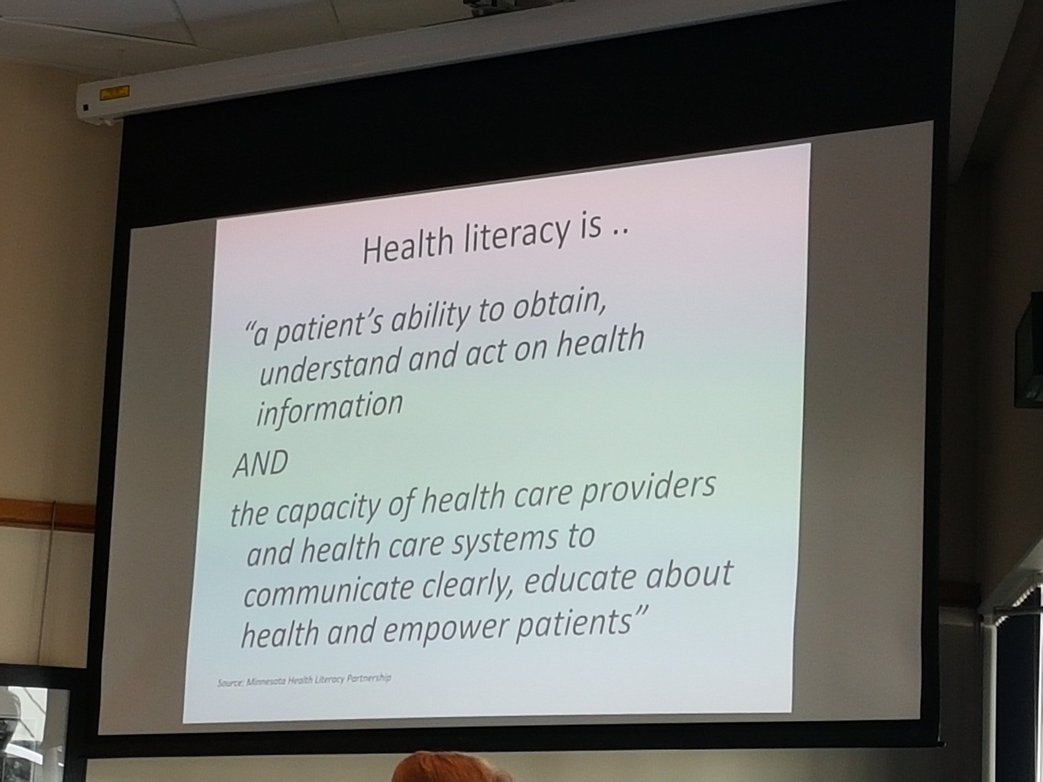 Valuable definition of the different aspects of health literacy #healthlitdiscovery https://t.co/I6hVdbGmye