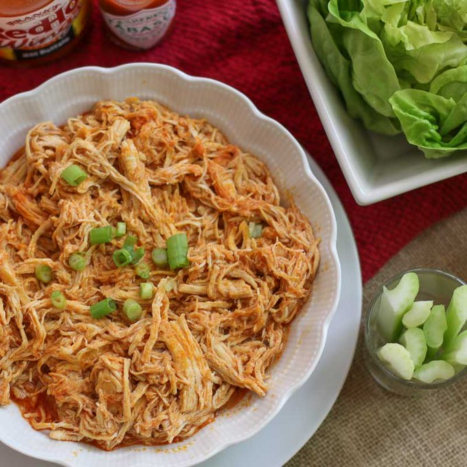 Easy Instant Pot Shredded Buffalo Chicken Recipe