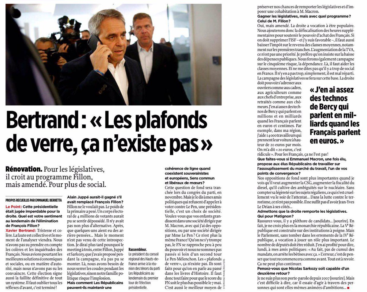 Xavier Bertrand: 'Ne me dites pas qu'il y a trop de social en France' https://t.co/2GBkPNdXua