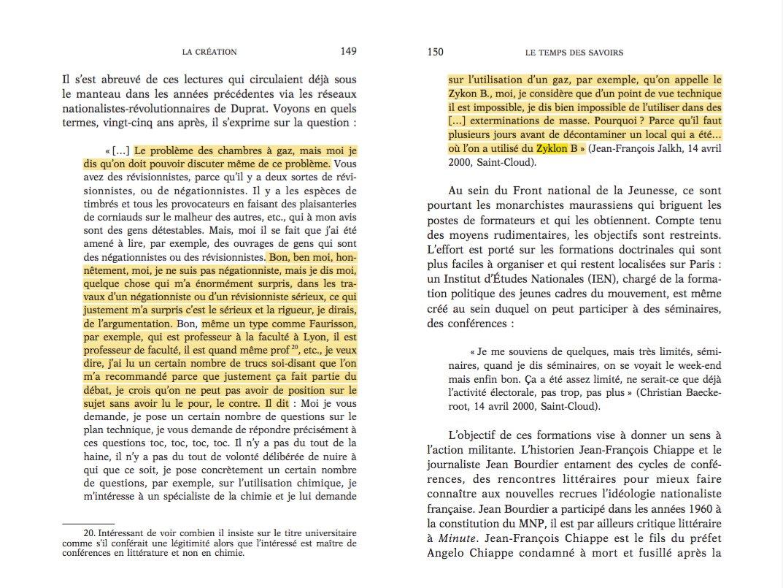 Contrairement à ce qu'a affirmé David Rachline ce matin, Jean-François Jalkh a donc bien promu les thèses révisionnistes de Faurisson