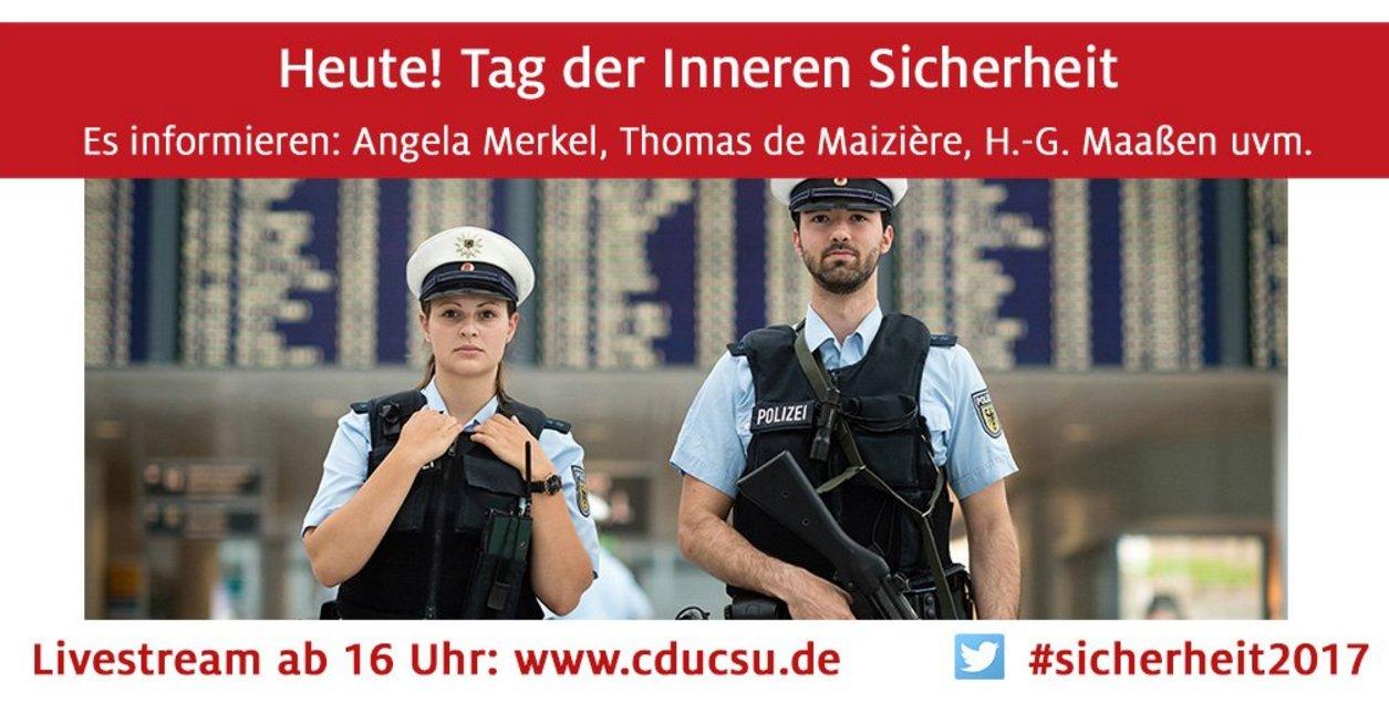 #Livestreamtipp Tag der Inneren Sicherheit von @cducsubt mit #demaiziere und #volkerkauder /PG #sicherheit2017 https://t.co/cWtlxHVmx2 https://t.co/ydQo8zObOX