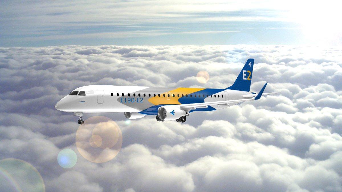 Embraer - E2 #3dsmax #3d #embraer #e2 #aeroplain #cloud #skypic.twitter.com/7XrBI9oC9J