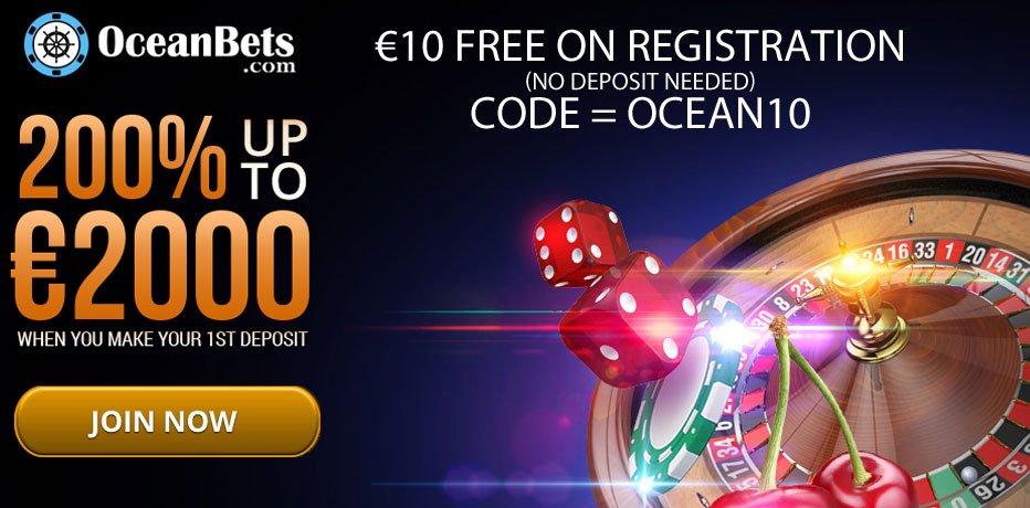 OceanBets Casino no deposit bonus