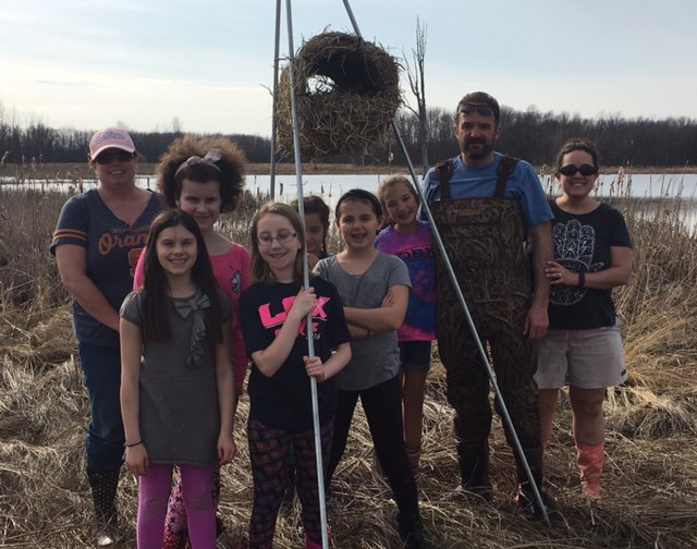 Geneva Girl Scouts help Mallards at Wetlands Preserve