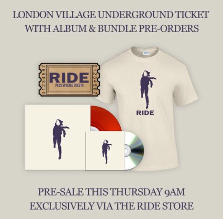 RT @rideox4 Ride will play London's Village Underground 12th June. Be the first to get access to tickets here... https://t.co/FTzoDZZMFd