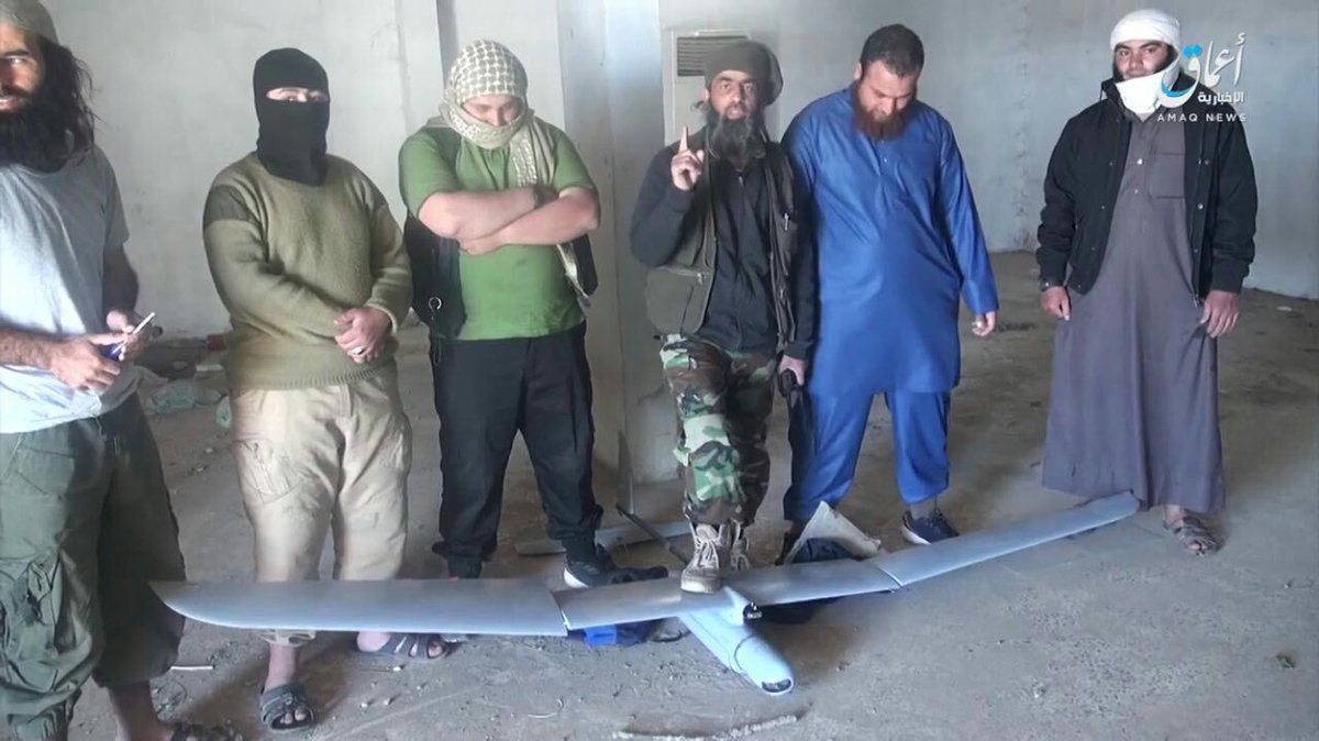 Another US drone that fell down yesterday West of Raqqa Syria