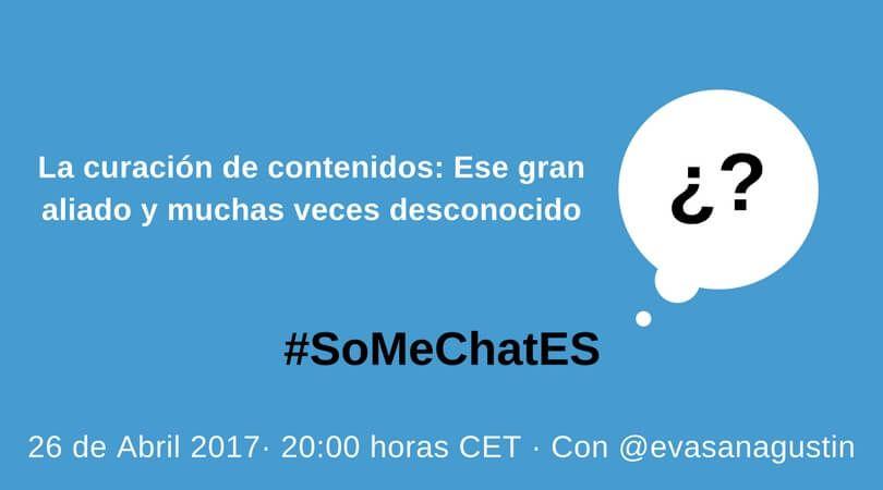 Y ahora sí, empezamos con las preguntas oficiales y de la comunidad de somechaters para @evasanagustin #SoMeChatES https://t.co/dHYpKJoEvR