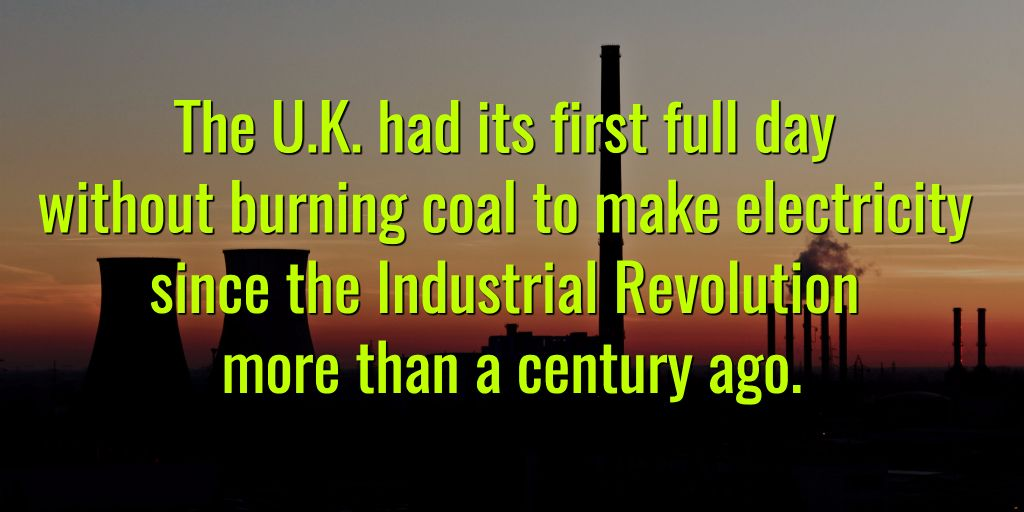 #UK Just Went Without #Coal Power for the 1st Time Since 1880s  http:// bit.ly/2q7VhRS  &nbsp;   #divest <br>http://pic.twitter.com/lzMaTkR1q3