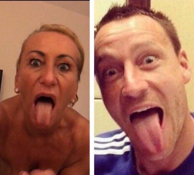 When your mum pulls funny faces #JohnTerrysMum
